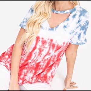 NWT Red, white, and blue blouse!